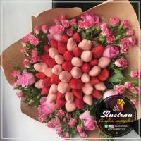 Букет из клубники и цветов - КБ49