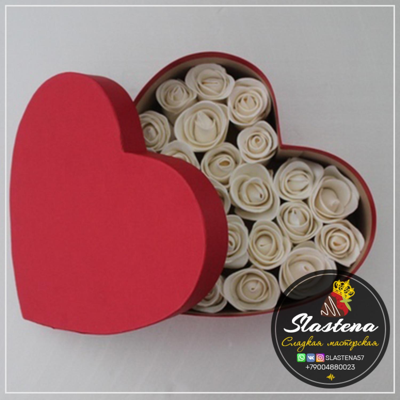Съедобные розы артСР1 в сердце
