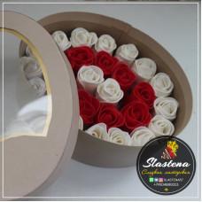 Съедобные розы арт.- СР3 красные белые
