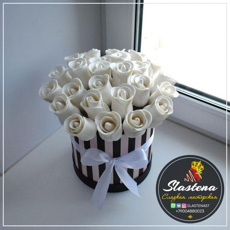 Съедобные розы артСР4 красные белые